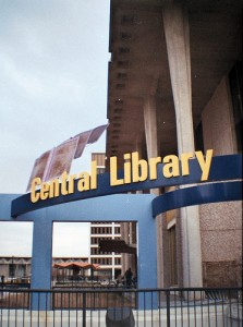 Central Library Sign