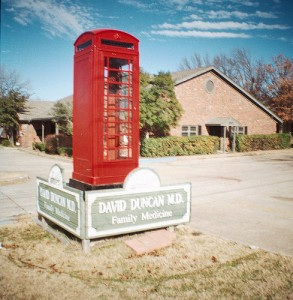 Telephone Box Medical Sign