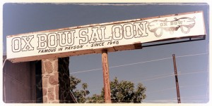 Ox Bow Saloon Sign