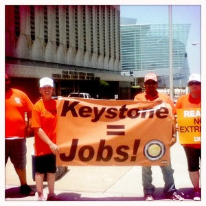 #protest #environment #energy #jobs #keystone #tulsa - these guys think my iPod is cute.