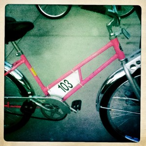 #free #pink #bicycles on #river_parks #tulsa good old number 103