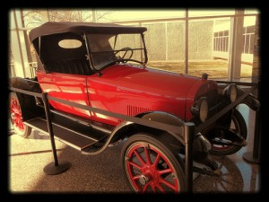 Vintage Car at Tulsa Airport