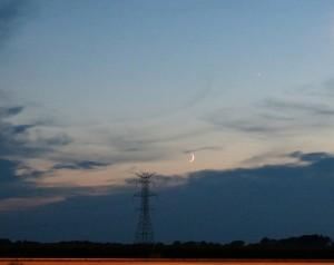 Crescent Moon, Venus,