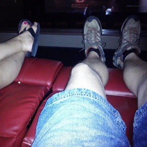 #fridacation #fromwhereisit #atthemovies with Heather recliners!