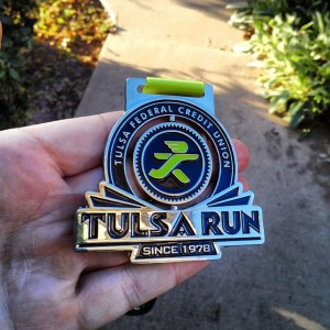 #tulsarun finisher medal