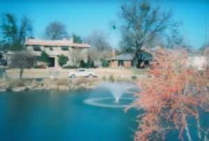 Swan Lake Fountain - Pinhole Photography