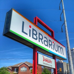 #librarium #tulsa temporary central #library #oklahoma #signs