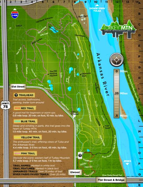 Turkey Mountain Map