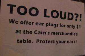 Too Loud Sign