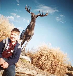 Logan and Moose Sculpture at Lafortune Park