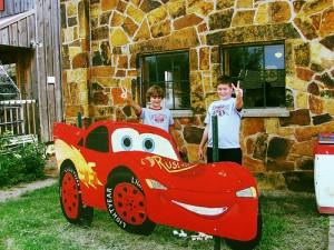 Lightning McQueen at Rock Cafe