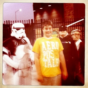 Star Wars night at ONEOK Field and Logan was in the thick of it!