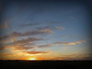 Cousin's sunset in Idaho