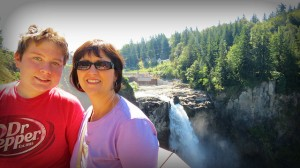 Heather and Logan at Snoqualmie Falls