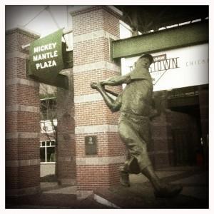 #mickey_mantle #sculpture #bricktown #oklahoma_city