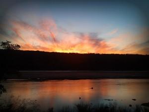 Fiery Sunset over Turkey Mountain
