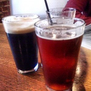 Deschutes Obsidian #stout and Fresh Squeezed #ipa #beerkitchen #beer #kansascity #roadfood #roadtrip