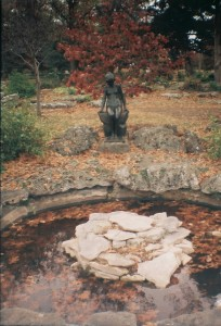 Sculpture and Pond