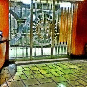 Walking in #downtowntulsa #tunnels today I found where all the money is kept #bank #vault
