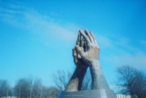 Praying Hands Sculpture - Oral Roberts University