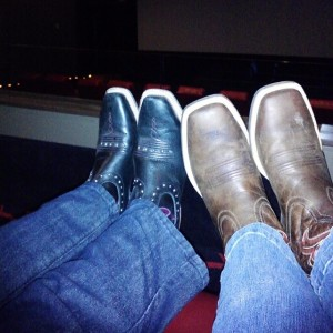 #his and #hers #boots at the #movies #igersok