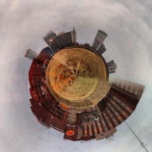 #tinyplanet #downtowntulsa #osuhospital from #cyrusaveryplaza