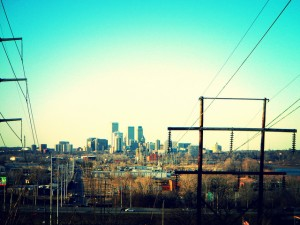 """Downtown Tulsa from the """"Spider"""" on Turkey Mountain"""