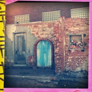 #blue #door #brick #tulsa