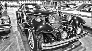 1936MercedesBenz540KReplicaRoadsterB&WHDR